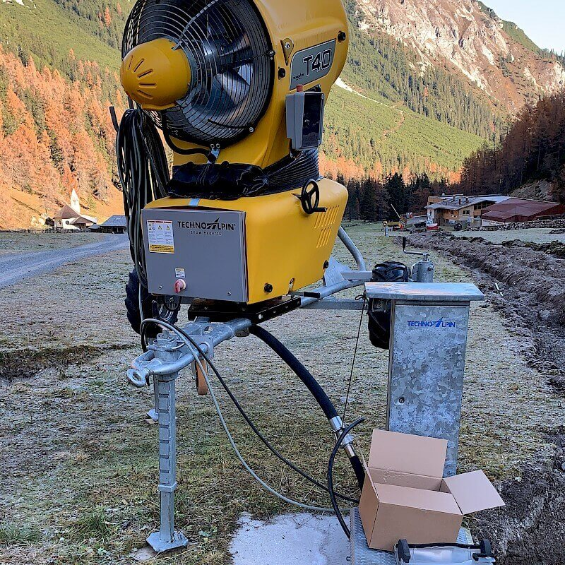 Anschlussarbeiten Schneekanonen | Schlick 2000